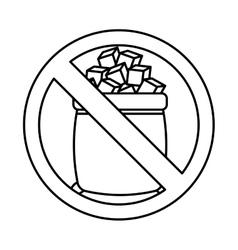 sugar free seal icon vector image