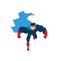 Superhero in Action silhouette in different poses vector image vector image