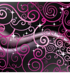 swirl design background vector image vector image