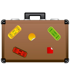 travel suitcase icon vector image vector image
