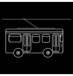 Trolleybus city municipal public transport vector