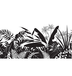 tropical silhouette pattern vector image vector image