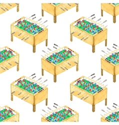 Watercolor seamless pattern with foosball tables vector
