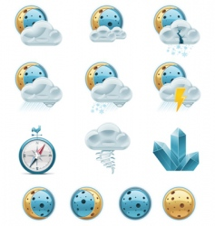 weather forecast icons night vector image