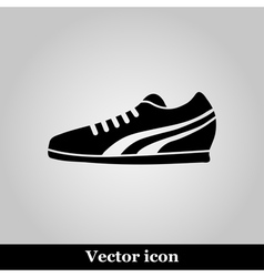 Running shoe icon on grey background vector