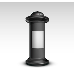 Black white stand pillar for outdoor advertising vector