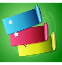 Colorful scroll ribbons infographic design vector