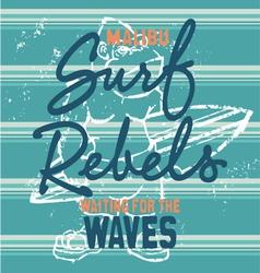 Surf rebels vector image