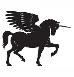 Winged unicorn vector