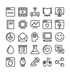 Web design and development colored icons 8 vector