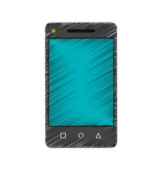 Modern cellphone icon image vector