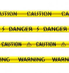 tapes of caution vector image