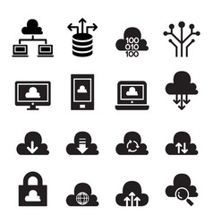 Cloud computing concept icon set vector