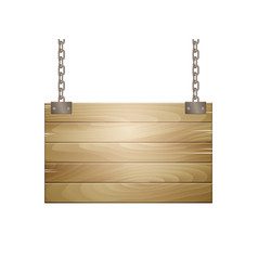 Wooden board sign vector