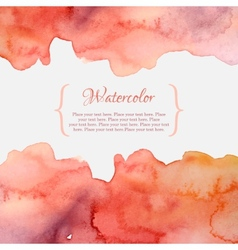 Orange and pink pastel watercolor frame vector image