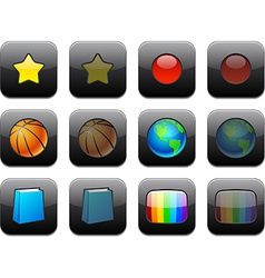 Square modern app icons vector