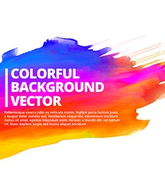 Colorful ink splash background design vector