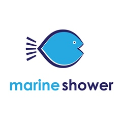 Concept of marine shower vector