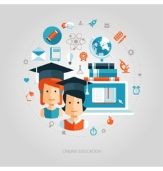 Flat design education composition vector