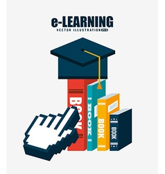 E-learning concept design vector