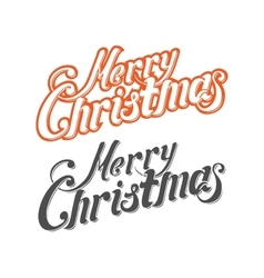 Merry christmas letters vector
