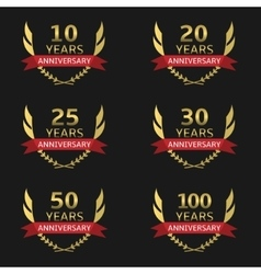 Golden anniversary labels vector