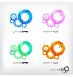 Set of abstract circle elements vector
