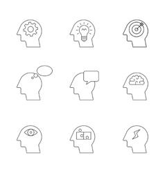 Human mind thinking process vector