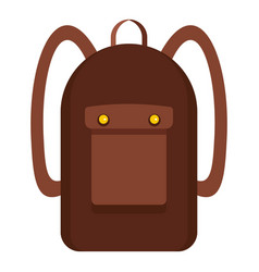 Backpack icon isolated vector