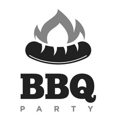 bbq party promotional monochrome emblem with vector image
