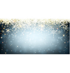 Blue winter banner with snowflakes vector
