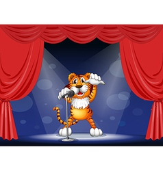 Cartoon Performing Tiger vector image
