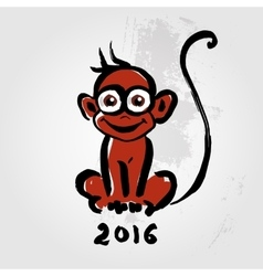 Chinese zodiac monkey vector