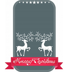 Christmas and New Year deer card vector image vector image