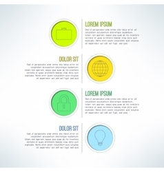 colorful circle banners and label elements vector image vector image