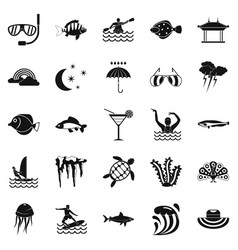 Dip icons set simple style vector