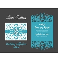 DIY Template for laser cutting Open card The vector image vector image