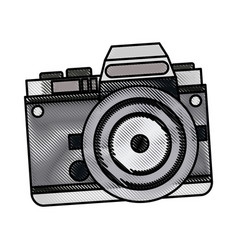 Drawing camera photo picture travel equipment vector