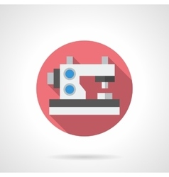 Embroidery machine round flat icon vector image