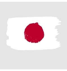 Flag of japan on a gray background vector
