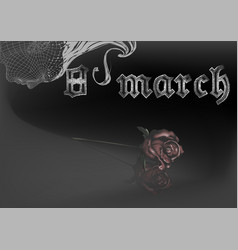 Gothic eighth of march vector