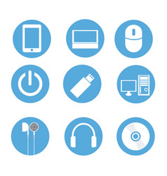 icons technology vector image