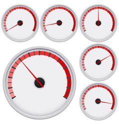 Industrial blank gauge red scale vector