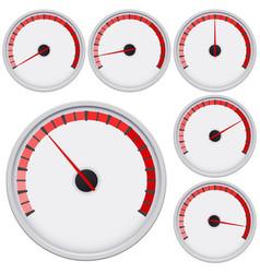 industrial blank gauge red scale vector image vector image