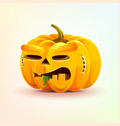 Jack-o-lantern terrible facial expression autumn vector