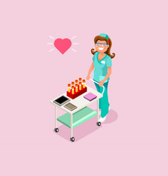 lab worker isometric people vector image vector image