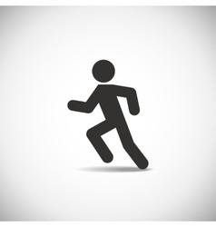 Man running vector image