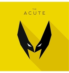 Mask acute hero superhero flat style icon vector