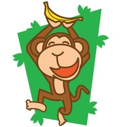 Monkey happy vector