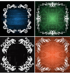 ornamented backgrounds vector image vector image